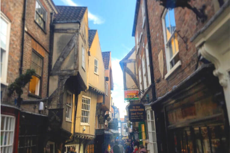 The narrow buildings on the shambles