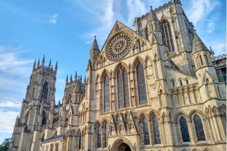 The stunning York Minster in the sunshine